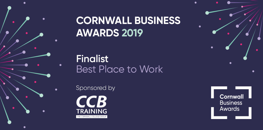 Cornwall business awards- best place to work finalist
