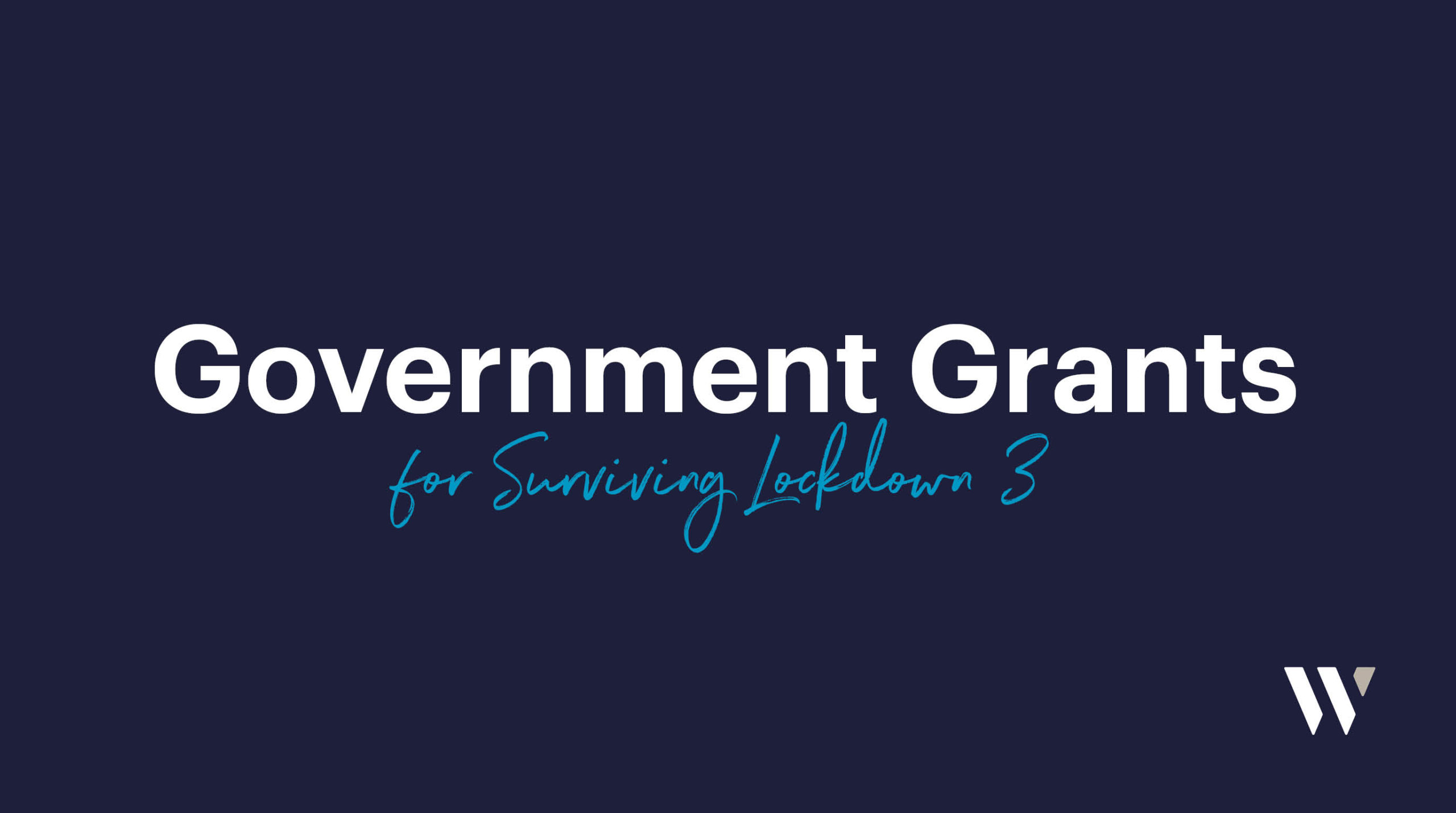 Government Grants for Surviving Lockdown 3