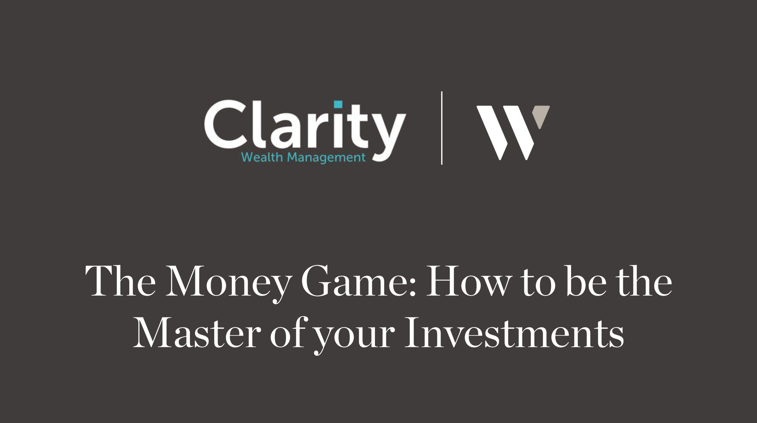 The Money Game - How to be the Master of your Investments