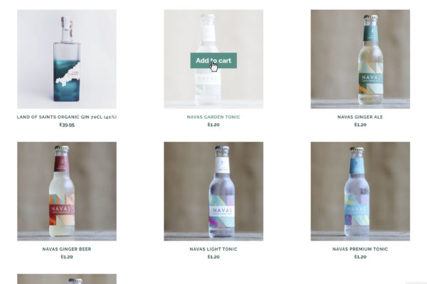 The Cornish Spirits Gin Company products on their website