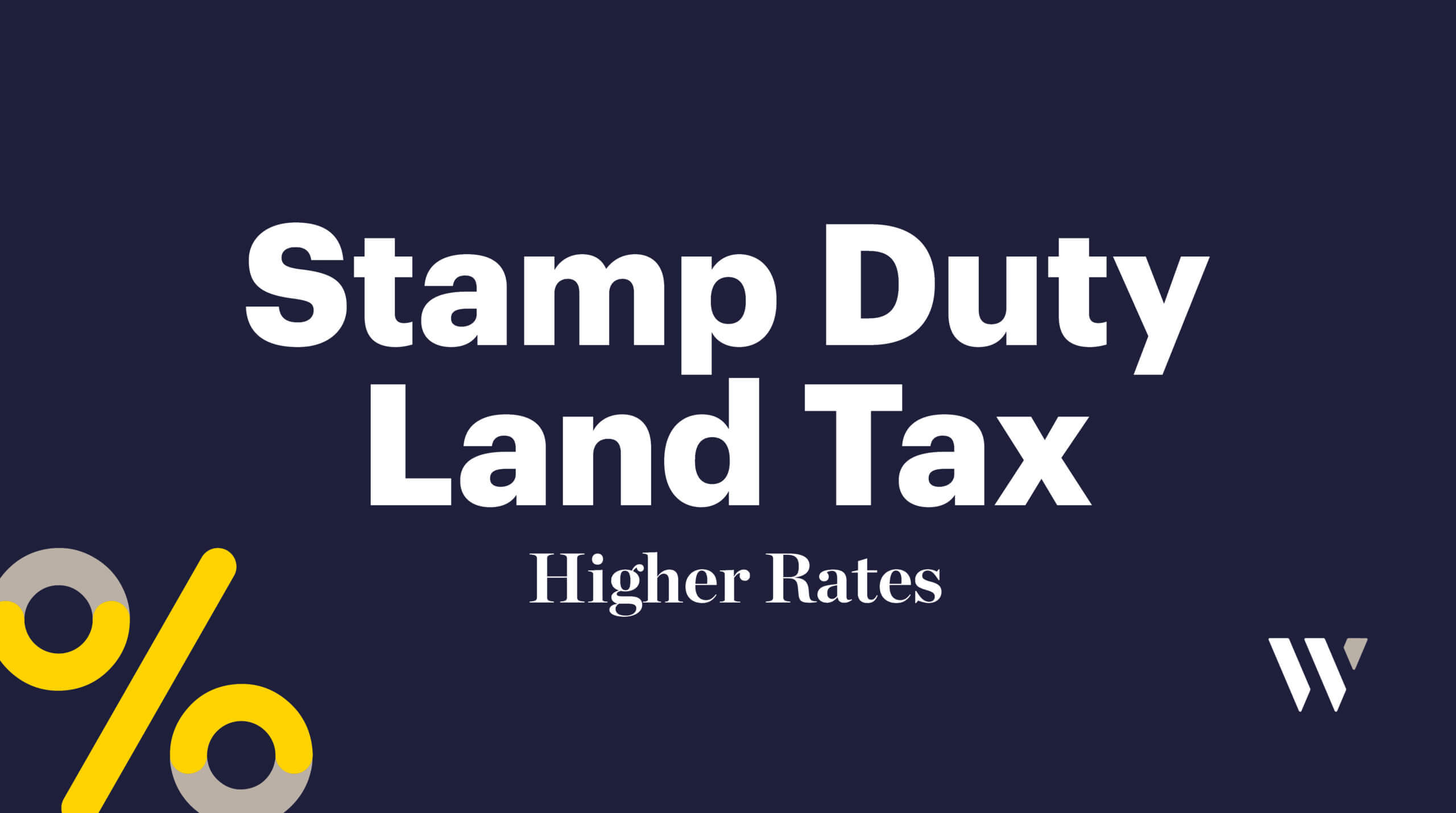 Stamp Tax Land Duty Higher Rates