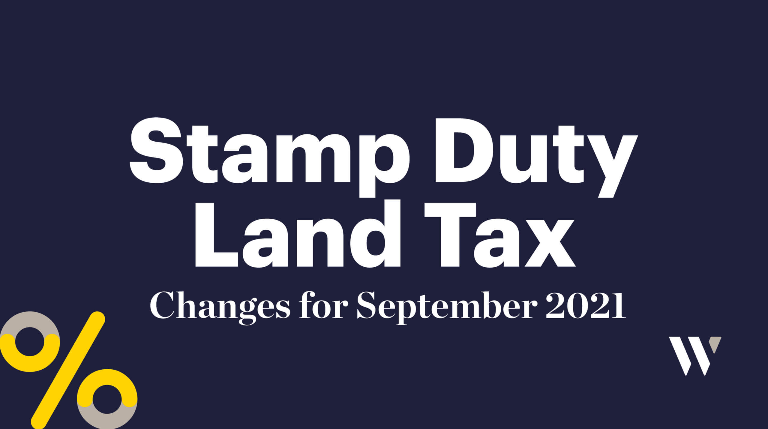 Stamp Duty Land Tax Changes for September