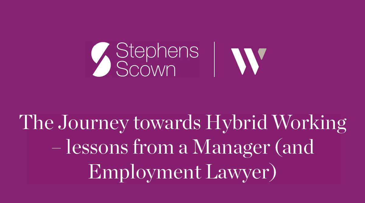The journey towards hybrid working